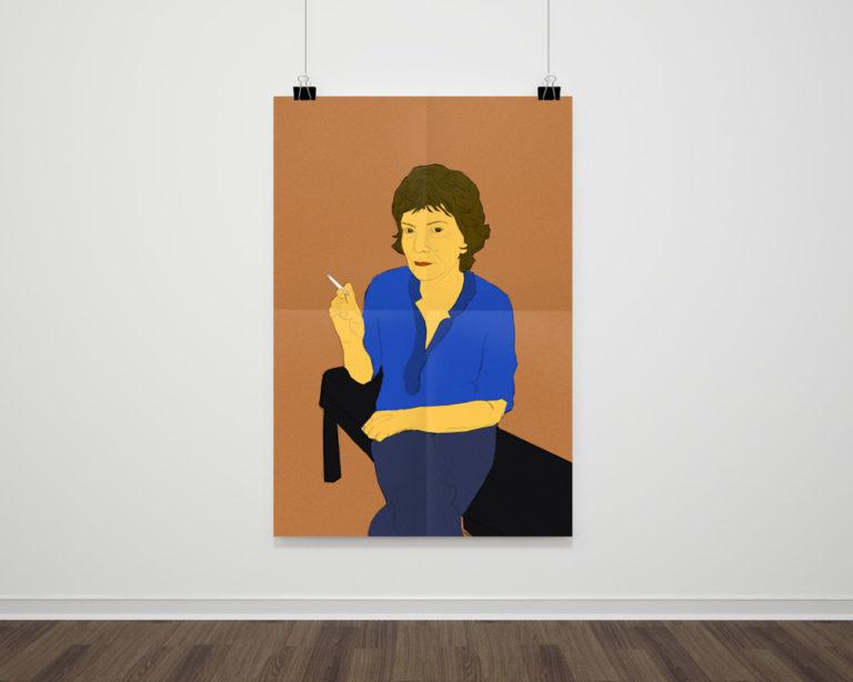 Illustration femme assise