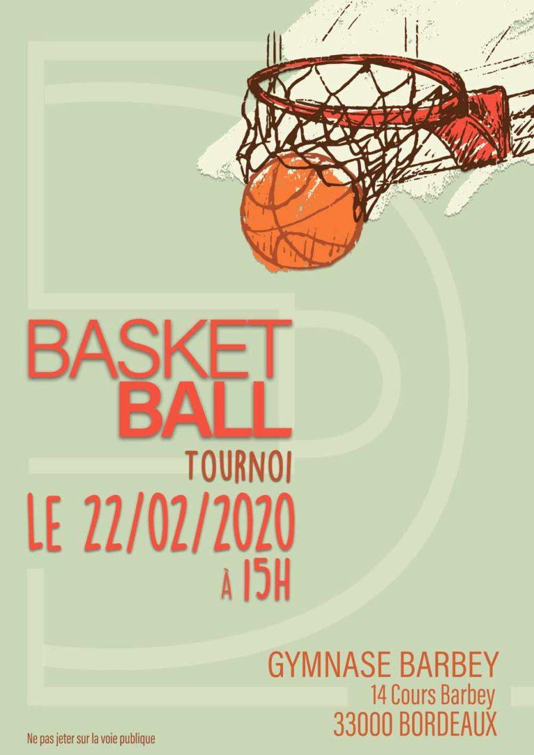 affiche de basketball